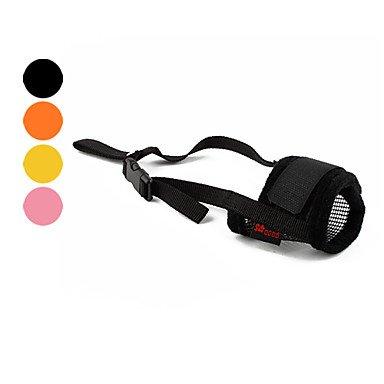 MJD Perros Bozales Ajustable/Retractable / Transpirable / Entrenamiento Negro / Rosado / Amarillo / Naranja Textil , yellow , m