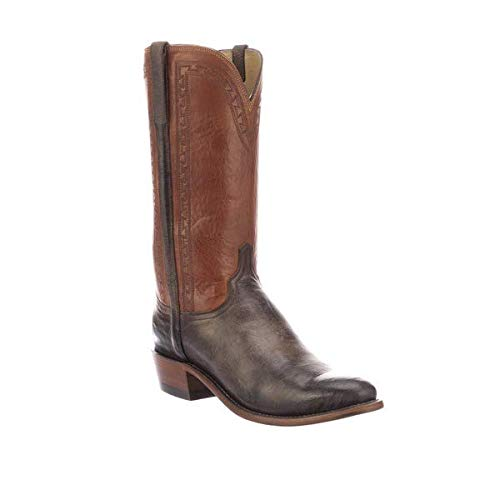 Lucchese Men's Stanley N1684.R3 Antique Chocolate Mad Dog Goat Boots - 11/D
