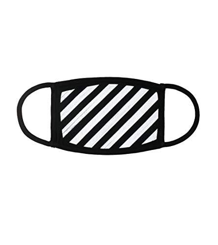 (Off-White Diagonals Stripes Black Color Face Mask)