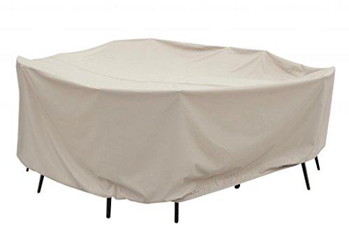 Treasure Garden Protective Patio Furniture Cover CP590 60'' Round Table and Chairs with ties (no hole) by Treasure Garden