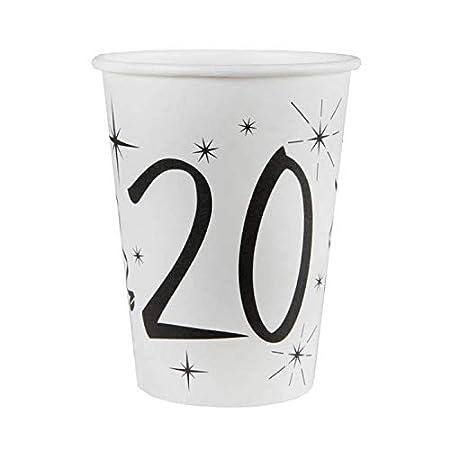 Chal - 20 vasos de cumpleaños para 20 años: Amazon.es: Hogar