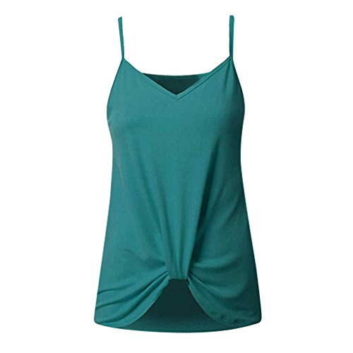 ZSBAYU Women's Summer Casual T Shirts Twist Knot Tunics Tops Loose Sleeveless Floral Printed Tank ()