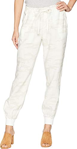 (Sanctuary Women's Troop Camo Linen Jogger White Camo X-Small 27)
