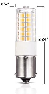 Cool White 6-Pack Maker Group MK-BA15D Makergroup 1076 1004 1142 BA15D S8 DC Bayonet Double Contact Base LED Light Bulbs for Boat Marine Lights RV Camper Trailer Automotive Light Bulbs Works on 12V/&24V