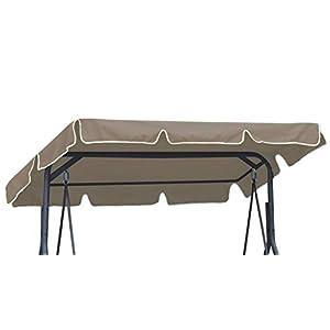Ferocity Universal Techo Solar para balancín Toldo Fundas para balancines Toldo de Repuesto para Columpio de jardín tamaño 200 x 120 cm Beige [101]