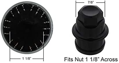 United Pacific 10351B Full Size Pickup Accessory Spike Nut Cover