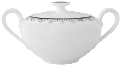 Villeroy & Boch White Lace 11-3/4-Ounce Covered Sugar ()