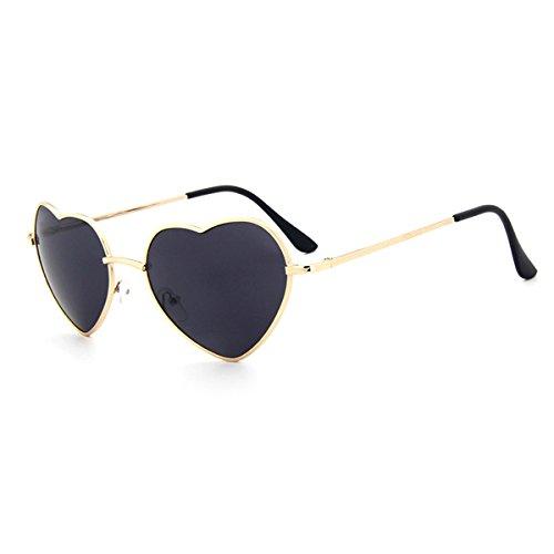 UNIQUEBELLA Lunettes de soleil Femme Mode UV400 Cœur #9 Noir XyG7jNz1