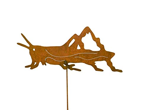 Grasshopper Decorative Metal Garden Stake, Whimsical Yard Art!