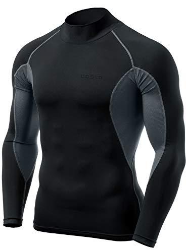 環境保護主義者バケットうがい(テスラ) TESLA メンズ 長袖 ハイネック スポーツシャツ [UVカット?吸汗速乾] メッシュ MUT