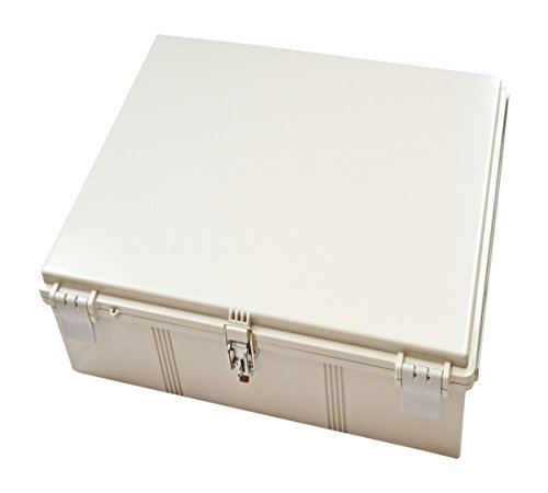 BUD Industries NBF-32042 Plastic ABS NEMA Economy Box with Solid Door, 23-39/64'' Length x 19-43/64'' Width x 9-53/64'' Height, Light Gray Finish by BUD Industries