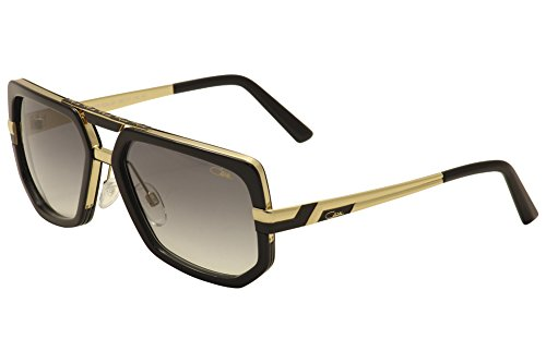 Cazal 662 Sunglasses 001SG Black/Gold Grey Gradient Lens - Sunglasses Gold Cazal