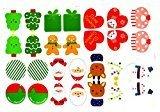 Eleganantamazing - 6 Adornos para árbol de Navidad, Card