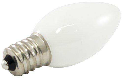 American Lighting Dimmable LED C7 Opaque Light Bulbs, E12 Candelabra Base, 2700K Warm White, 25-Pack