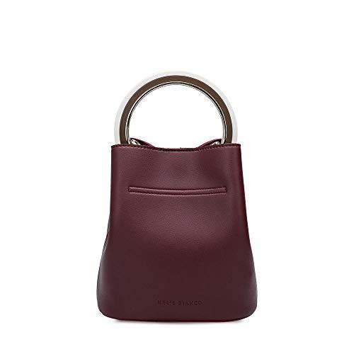 Crossbody Ring Melie Bianco Vegan Gemma Bag Leather Bucket Burgundy SqSY6
