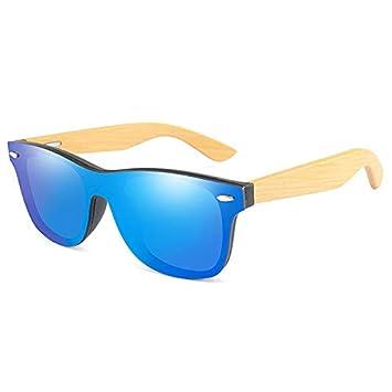 SQYJING Gafas de Sol para Marco de Madera de bambú Vintage ...
