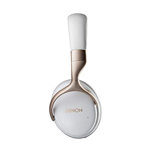 Denon AH-GC30 Premium Wireless Noise-Cancelling Headphones - Hi-Res Audio Quality | Up to 20 hours of Bluetooth and Noise Cancelling | Designed for Comfort | Battery-saving Auto-Standby Mode | White
