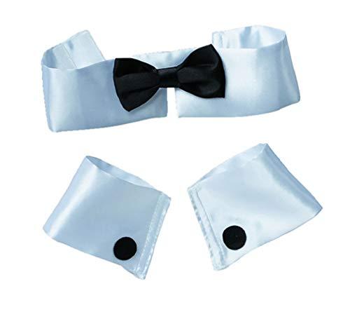 Collar Tie and Cuff Set Stripper Playboy Bunny]()