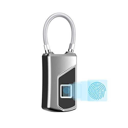 WSXX Cerradura para Equipaje, Locker, Cerradura para Huella Digital para Equipaje, Candado para Aplicaciones móviles,...