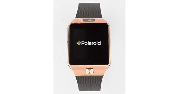 Amazon.com: Polaroid sw1502 SmartWatch, color negro y dorado ...