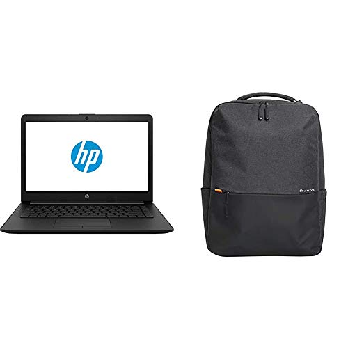 HP 14Q CS0009TU 2018 14-inch Laptop, Jet Black + Laptop Bag