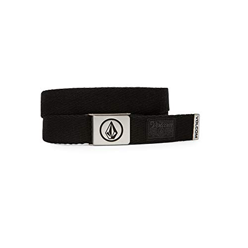 Volcom Men's Circle Web Belt, stoney black, One Size