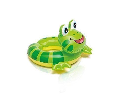 Intex 59220NP-SO, Schwimmring oder Schwimmreifen mit Tierkopf für Kinder von 3-6 Jahren in 3 verschiedenen Motiven Pferd, Vogel und Frosch (Frosch)