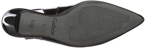 Gabor Shoes Fashion, Zapatos de Talón Abierto para Mujer Negro (schwarz +Absatz 77)