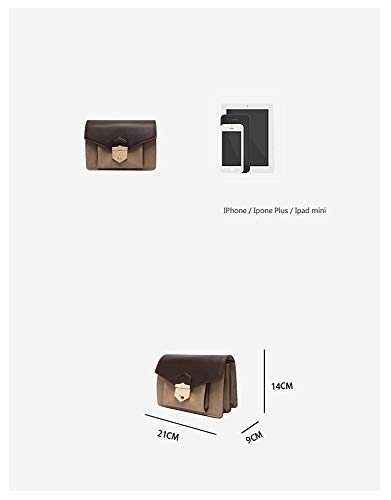 Simple Bandolera Hxkb Bag Crossbody Cerradura Contraste Salvaje Moda Hombro Bolsa De Matorral PPHqgEOw