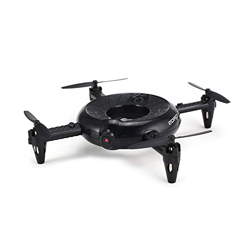 Littleice Utoghter 422 Smart Doughnut RC Quadcopter 0.3MP HD Camera WiFi FPV Altitude Hold LED Pocket Drone (Black) from Littleice
