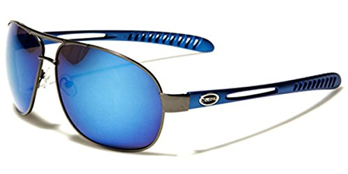 X-loop Designer Sunglasses (X-Loop Men's Metal Sport Aviator Sunglasses)