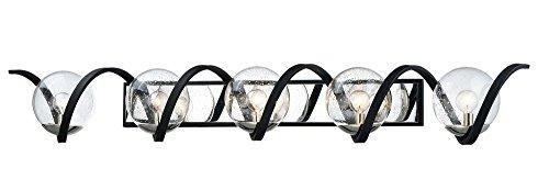 (Maxim Lighting 35107CDBKPN Curlicue-Bath Vanity Light, 7 x 49.25, Black/Polished Nickel)
