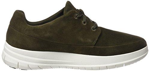 Fitflop Herren Sporty Pop Sneaker In Camoscio Verde (verde Mimetico)