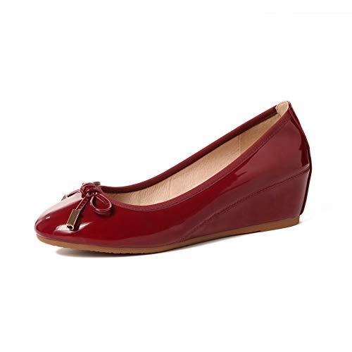 Sandales Bordeaux Compensées 36 EU APL10856 Femme Rouge 5 BalaMasa 5xgqROWw