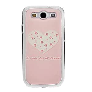 GONGXI- Dibujo Gel Cubierta Pink Corazón cariñoso patrón Neutral Stiffiness silicona de nuevo caso para Samsung Galaxy S3 I9300