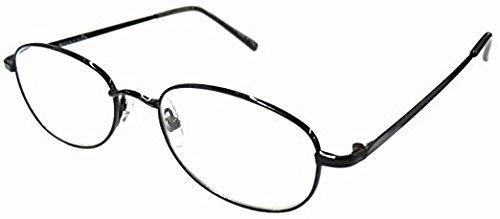 Magnivision T4 Titanium Black Oval Metal Wire Rim Reading Glasses +1.25