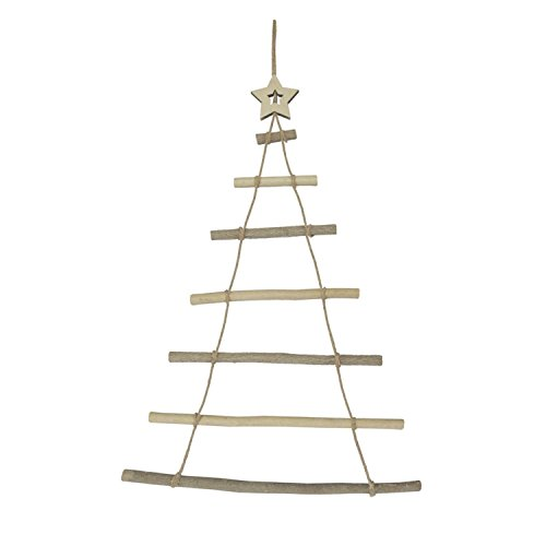 northlight 31 rustic natural wood wall hanging twig tree with star christmas decoration - Wooden Christmas Tree