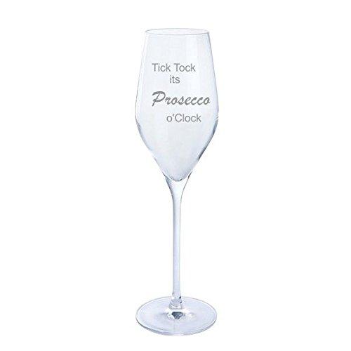 Dartington Tick Tock its Prosecco O'Clock Prosecco Glass