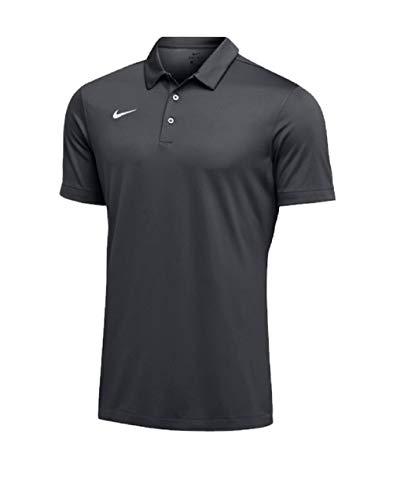 Nike Mens Dri-FIT Short Sleeve Polo Shirt (Medium, Anthracite) by Nike (Image #1)