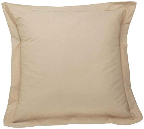 European Pillow Shams Set of 2 Taupe Euro Pillow Shams European Square 500 Thread Count 100% Egyptian Cotton Cushion Cover Euro Size Decorative Pillow Cover Tailored Poplin (European 26x26, Taupe)