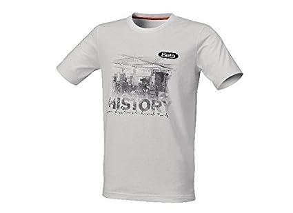 Beta 9572 H/M - Camiseta (100% algodón peinado, 160 g/m², protector de sudor naranja, tamaño mediano), color blanco: Amazon.es: Industria, empresas y ciencia