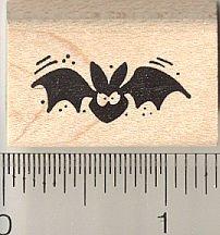 Amazon Small Black Bat Halloween Rubber Stamp