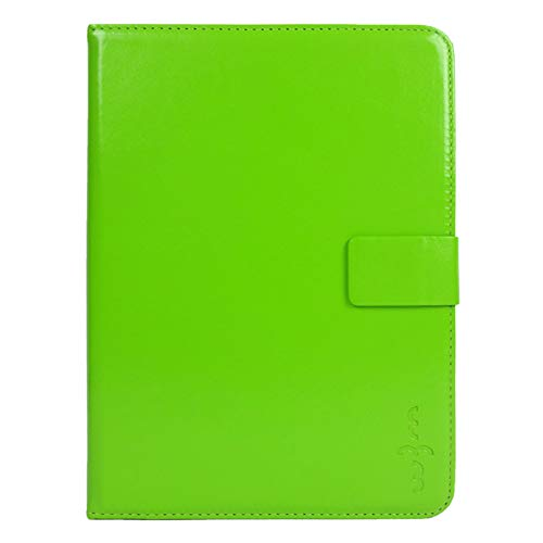Emartbuy Smart Hard Back Flip Stand Wallet Cover for Samsung Galaxy SM T355Y : Size  7 8 Inch    Green Plain