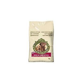 Harringtons - Comida para perros adultos con cordero y arroz (15 kg, 4 unidades