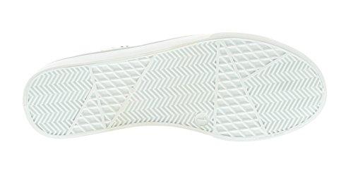 NEU ältere Mädchen/Kinder weiß Skater Stil Mode Schuhe - weiß - UK Größen 1-13