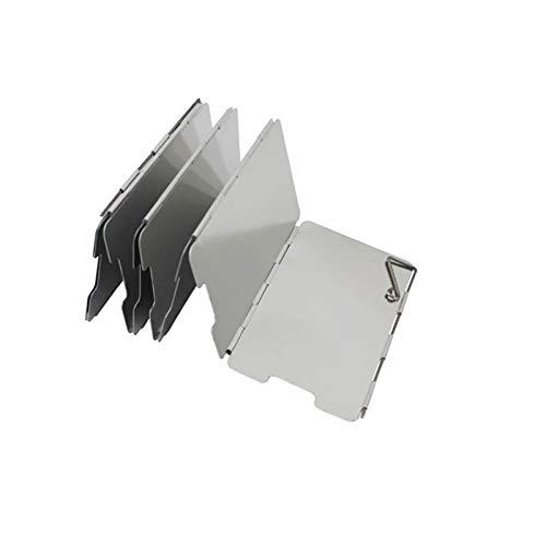 Windscherm voor campingkooktoestel, opvouwbaar aluminium outdoor camping gasfornuis voorruit voor comping BBQ, met…