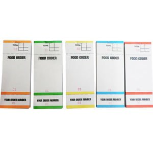 Food Restaurant Order Pads Numbered 1-100 5 Colours 3 Part Tear ...