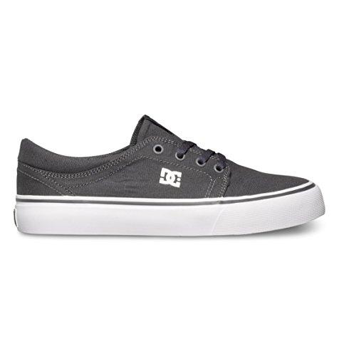 DC Women's Trase TX Skate Shoe, Light Grey, 5 M US