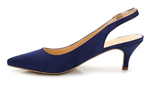 Aguja Clásico y Boda de Tacón ComeShun de Para Azul Bajo Mujer Fiesta Espigón de Zapatos 1qUfwUYx0