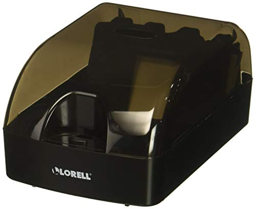 (Lorell Business Card File Flat Card File, Clear/Black)